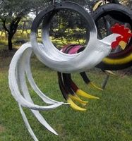 Tire rooster planter - inspiration only.