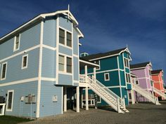 Colorful houses in the Outer Banks, NC. #obx