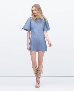 画像 1 の TENCEL DRESS ザラから