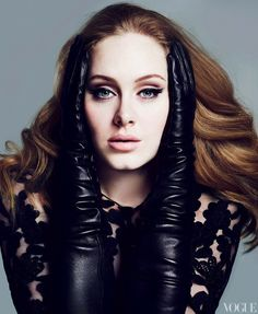 Photographed by two of the most respected fashion photographers today, Mert Alas and Marcus Piggott, singer Adele looks absolutely stunning in these images for the March issue of Vogue.