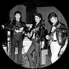 Paul McCartney, George Harrison & John Lennon. The dream is not over. The first times.