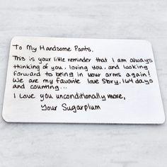 Custom Handwritten Wallet Insert
