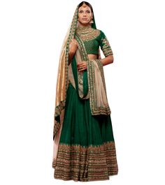 The Peeli Kothi Lehenga in Green by Sabyasachi