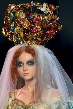 Lily Cole for Lacroix.   I love Lily Cole in Terry Gilliam's  'Imaginarium of Doctor Parnassus'.