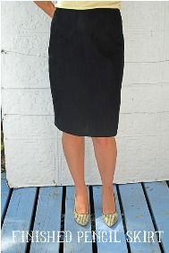 Drft and sew sew along tutorial for pencil skirt
