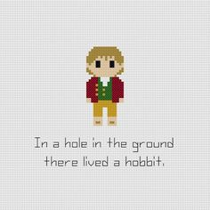 Le Hobbit Bilbon Sacquet citation Croix broderie par GeekyStitches, $3.50