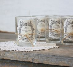 Rustic Candle Holders - Rustic Wedding Favor