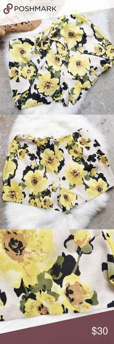 J.O.A. Flower Print Shorts Brand new with tags. Cute front waist tie. Linen blend. Hidden back zipper closure. Size small. J.O.A. Los Angeles brand. Still being sold online on Revolve. Listed as Anthropologie for exposure. Anthropologie Shorts