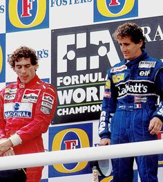 Ayrton with Prost