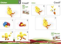 Met instructie kaarten voor onze Mini Silky Soft klei maakt u stap voor stap prachtige kleiwerkjes. De instructiekaarten zijn ingedeeld op moeilijkheidsgraad, oplopend van level 1 (makkelijk) tot Level 3 (uitdagend). Kijk op onze site voor alle instructiekaarten. http://www.kleiweb.nl/downloads/instructiekaarten/instructiekaarten-silky-soft/
