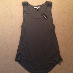 NWT Express Olive Tank Brand new with tag never been worn tank top loose and flowy fit stretchy fabric. No trades. Express Tops Tank Tops