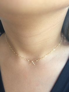 A personal favorite from my Etsy shop https://www.etsy.com/listing/493626531/14k-gold-filled-bow-chocker-necklace