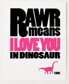 How perfect are these dinosaur posters for Valentine's day for the kids?
