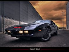 The coolest car award goes to KITT, the artificially intelligent car from Knight Rider