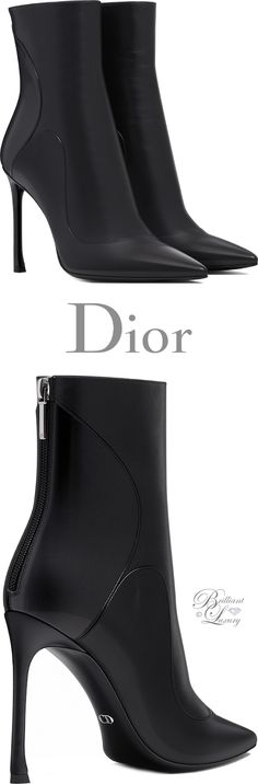 Brilliant Luxury ♦Dior Black Smooth Calfskin Ankle Boot