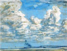 nuages blancs Eugene Boudin