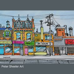 https://flic.kr/p/xyLywb | Urbansketch of Toronto from last December. These are…