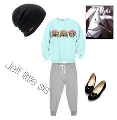 """""""Jeff little sis #1"""" by insane-smilee ❤ liked on Polyvore featuring Coal"""