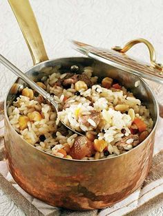 And Rice Mevlevi pilaf Recipe - Turkish Cuisine Dishes - Recipes Snack Recipes, Cooking Recipes, Greek Cooking, Iftar, Turkish Recipes, Mediterranean Recipes, International Recipes, Food Dishes, Dishes Recipes