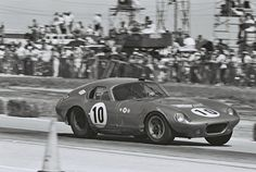 MacDonald and Hobert drove this #10 Daytona Coupe to 4th place, 1st in class, in the 1964 Sebring 12 hours. Dave Friedman photo.