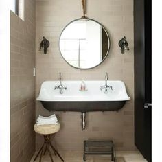 Tough sink in kids bathroom