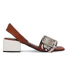 JIL SANDER Buckled Leather Sandals. #jilsander #shoes #sandals
