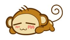 I made a sleeping monkey. :3 This isn't my character, however. His name is Yoyo,and I think he originates from a Chinese flash series. I thought he was super cute, so I had to make my own version of him. :DI sketched him in Photoshop, did the linework in Illustrator, then colored him back in Photoshop. The whole process took maybe an hour.