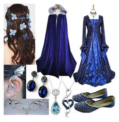 A fashion look from June 2014 featuring jewels jewelry, gothic victorian jewelry and jewelry. Browse and shop related looks. Pretty Outfits, Pretty Dresses, Beautiful Dresses, Narnia, Masquerade Dresses, Fairytale Fashion, Character Inspired Outfits, Fantasy Gowns, Fandom Outfits