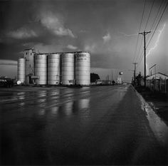 Frank Gohlke  Grain Elevators and Lightning Flash  1975 Vintage gelatin silver print 16 x 20 inches Courtesy of Joseph Bellows gallery.