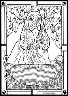 Dogs Stained Glass Coloring Book <3