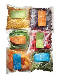 Free Printables: Freezer Storage Labels