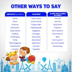 Other ways to say.