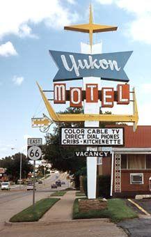 Yukon Motel sign, Yukon, Oklahoma