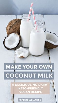 This 'milk' is amazing in smoothies but is particularly well-suited to my morning bullet proof coffee with a touch of additional liquid MCT oils. Coconut Milk Recipes, Homemade Almond Milk, Vegan Recipes, Keto Coffee Creamer, Nut Milk Bag, Bagged Milk, Healthy Man, Unsweetened Coconut Milk, Diet Plan Menu
