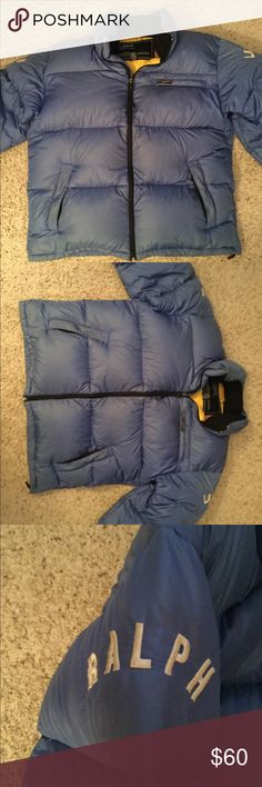 4b0585b391e5a9 RALPH LAUREN POLO JEANS PUFFER DOWN COAT JACKET XL RALPh LAUREN POLO JEANS  sz XL blue puffer down jacket coat. Mice condition with exception to a tiny  hole, ...