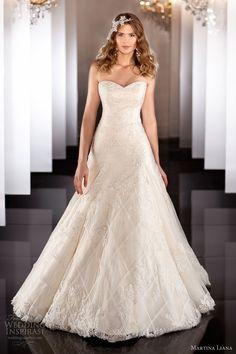 martina liana fall 2013 wedding dress style 455 strapless a line