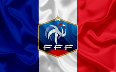 Download wallpapers France national football team, emblem, logo, football federation, flag, Europe, flag of France, football, World Cup