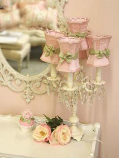 cute pink lampshades