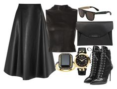 Leather by carolineas on Polyvore featuring polyvore, fashion, style, Narciso Rodriguez, Lanvin, Giuseppe Zanotti, Givenchy, Versace, David Jones and RetroSuperFuture