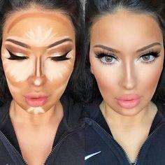 How to apply contour makeup according to your complexion - Make up - maquillage - Contouring Makeup Inspo, Makeup Inspiration, Makeup Ideas, Makeup Kit, Makeup Brush, Makeup Tutorials, Skin Makeup, Beauty Makeup, Makeup Contouring