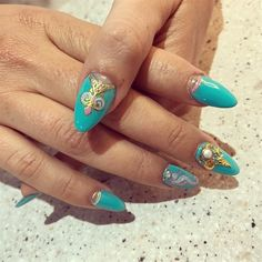 Beautiful Vacation Nails by Lavi from Nail Art Gallery