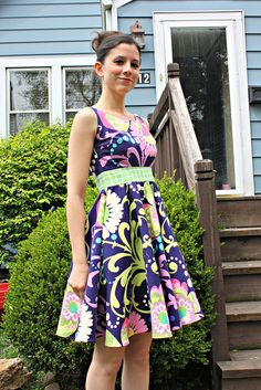 A Love Dress by sewsweetness.  I would wear a shade shirt or cardigan with this.