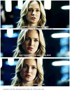 "2x20 Seeing Red [gifset] - ""I wanted to kill Roy. Because that's what I do. That's who I am."" - Sara Lance, Black Canary, Arrow - Instad"