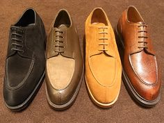 Edward Green Dovers (BLACK SUEDE, MUSHROOM SUEDE × BRONZE, TOBACCO SUEDE, ROSEWOOD COUNTRY CALF)