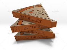 Packaging Mock Up Pizza Slice Box Food Box Packaging, Bag Packaging, Packaging Design, Branding Design, Packaging Ideas, Pizza Branding, Pizza Logo, Pizza Box Design, Pack Up And Go