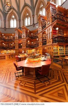Reading Room in Library of Parliament, Ottawa, Ontario, Canada
