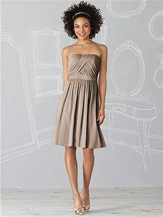 Mocha Colored Bridesmaids Dress option After Six Bridesmaid Dress 6620 http://www.dessy.com/dresses/bridesmaid/6620/