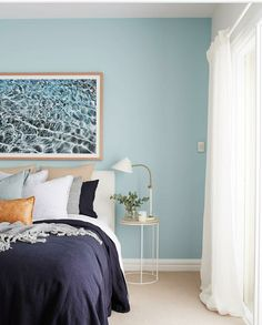 Blue Bedroom, Print Store, Comforters, Bedrooms, Blanket, Furniture, Home Decor, Home, Creature Comforts
