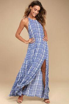 #Lulus - #Lulus Tavik - Farleigh Blue Print Maxi Dress - Size Medium - Lulus - AdoreWe.com