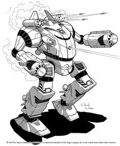"""This is my illustration for the Shogun battlemech from the Battletech book """"Historical: Operation Klondike"""". You can buy the book from your local game store or order it online. It's a great book an..."""